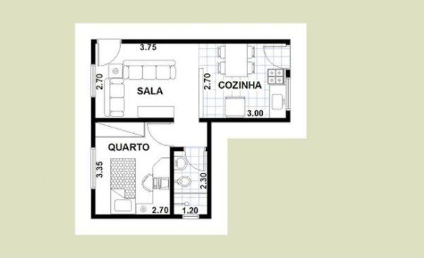 casas com um quarto