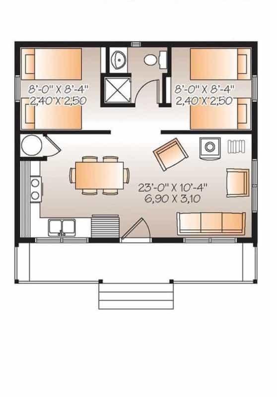 estilos de plantas de casas simples