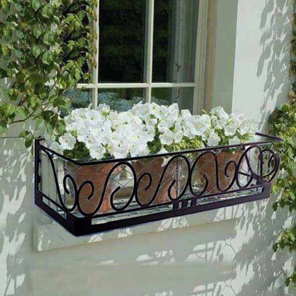 floreira de janela de ferro classica