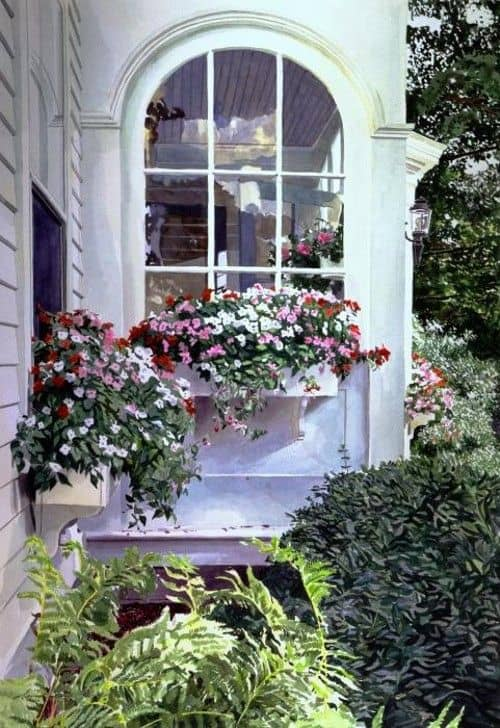 floreira de janela em casas de alvenaria