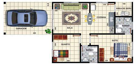 ideia de plantas de casas simples 1