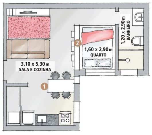 ideias de planta de casa simples