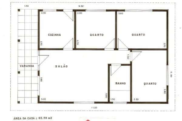 ideias de plantas de casas simples 1