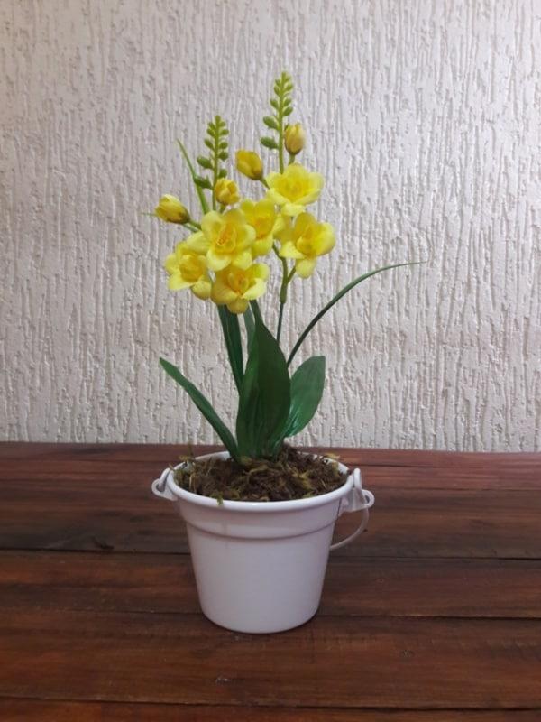 mini orquídeas em mesa