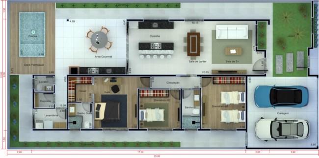 modelo de plantas de casas simples 1