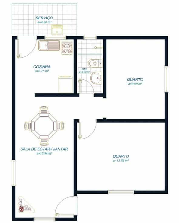 modelo de plantas de casas simples