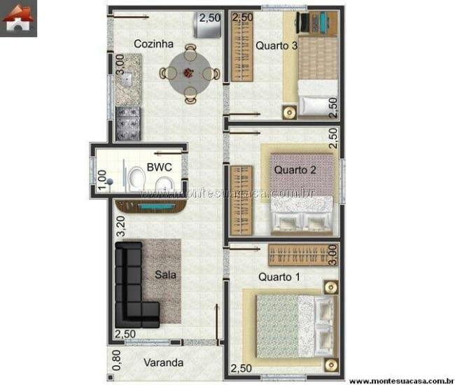 modelos de plantas de casas simples