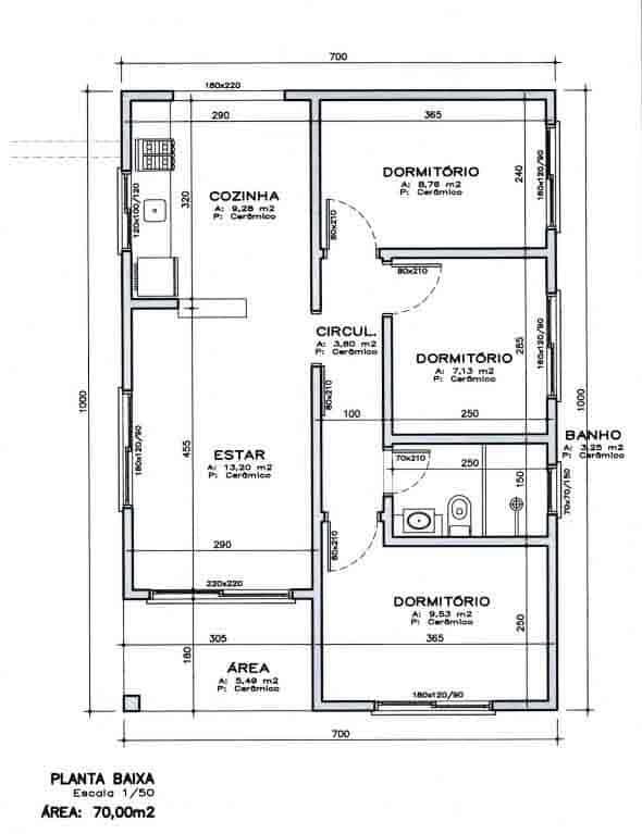 planta baixa de casa simples