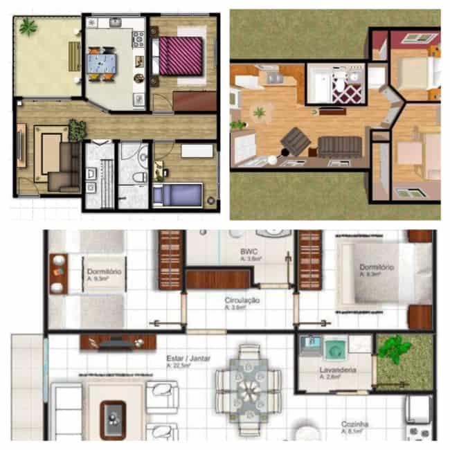 planta de casas simples 1