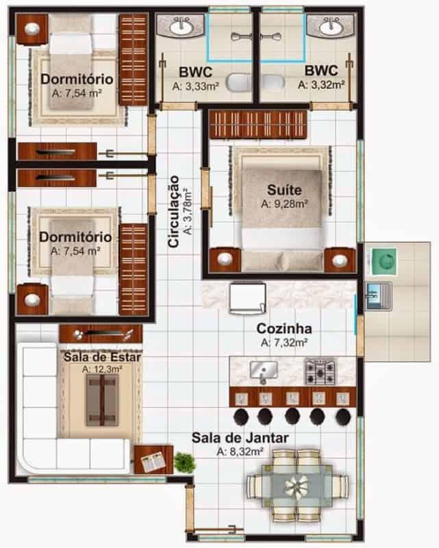 plantas de casas simples 1