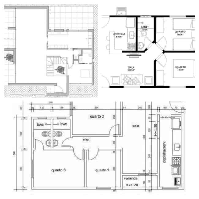 plantas de casas simples 3