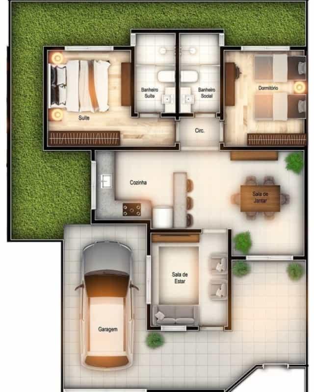 plantas de casas simples ideias 1