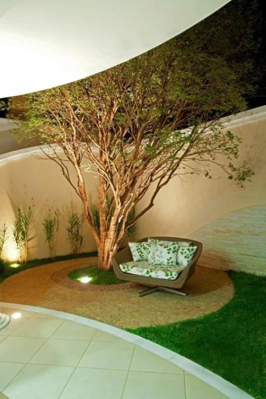 quintal pequeno decorado com jabuticabeira
