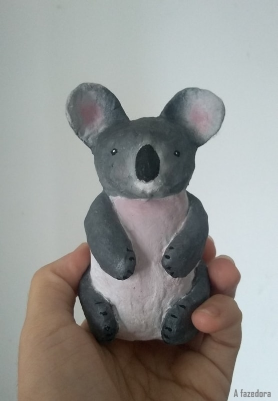 escultura de animal de papietagem