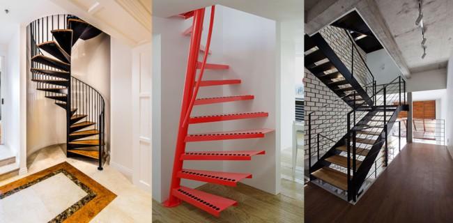 Tipos de escadas de ferro