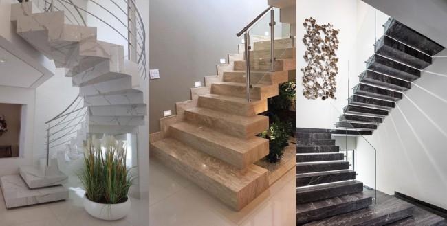 Tipos de escadas de mármore