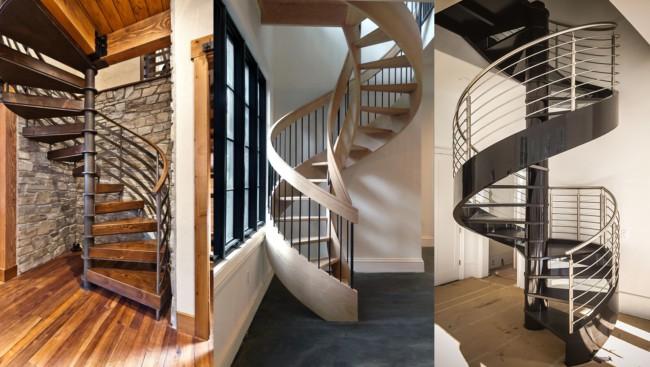 Tipos de escadas espiral caracol