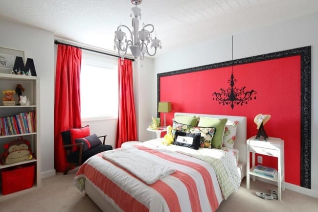 cortina vermelha pequena