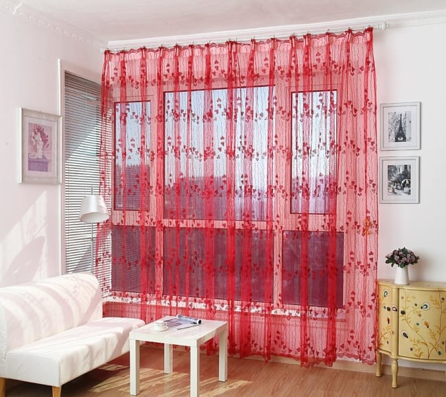 cortina vermelha simples