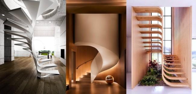 escadas modernas diferentes