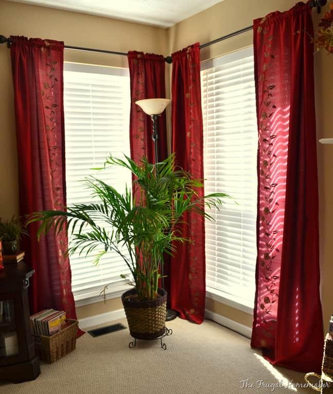 sala com cortinas