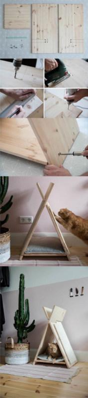 passo a passo de arranhador com toca para gatos