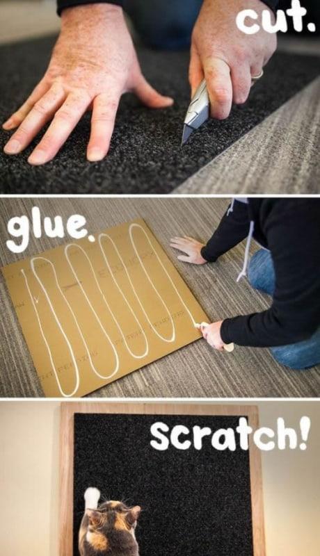 passo a passo facil de arranhador de gato com carpete