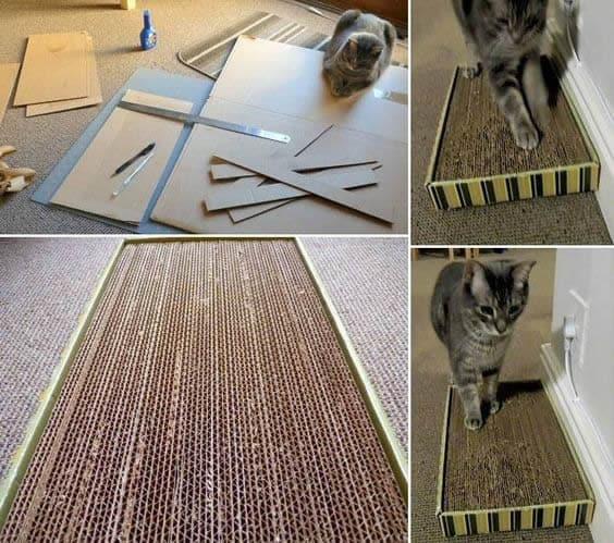 arranhador simples de papelao passo a passo