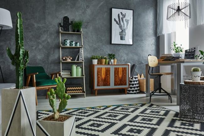 Apartamento com decoracao minimalista usando plantas