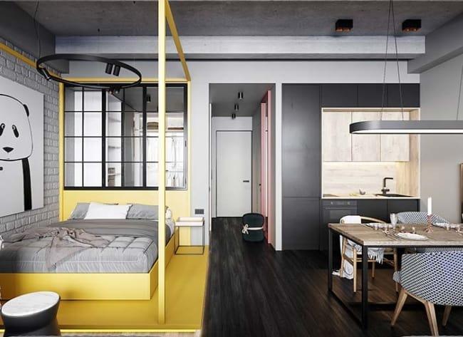 Apartamento decorado com estilo moderno e pouco espaco