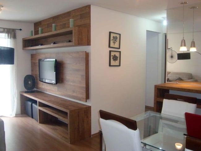 Apartamento decorado com estilo simples