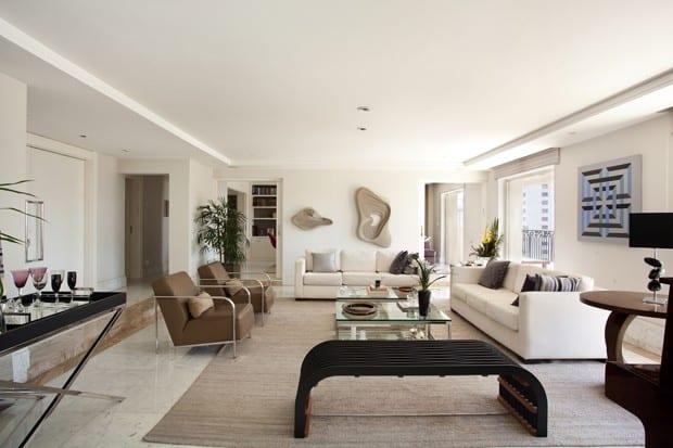 Apartamento decorado prezando a utilizacao de cada espaco sem prejudicar o aconchego do ambiente