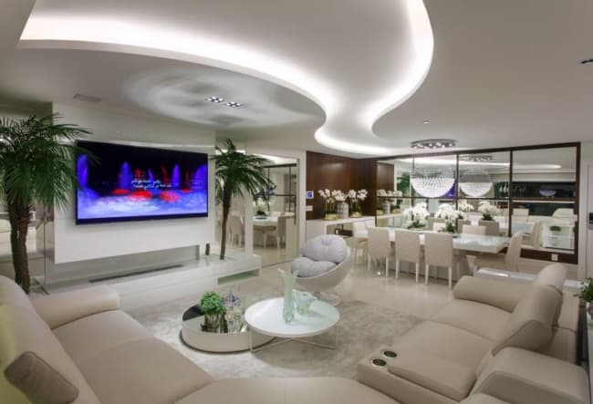 Apartamento luxuoso com projeto luminotecnico diferenciado