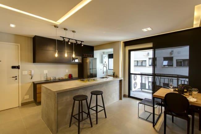 Apartamento moderno com decoracao aconchegante