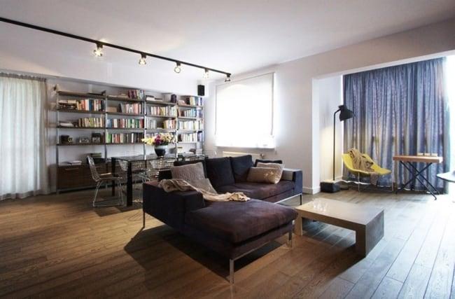 Apartamento moderno com imposicao do estilo industrial
