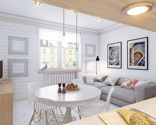 Apartamento simples decorado com projeto luminotecnico