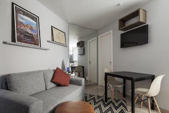 Decoracao de apartamento com estilo simples e minimalista
