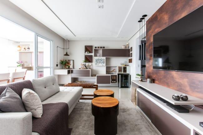Decoracao de apartamento moderna e descolada