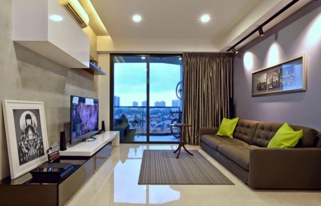 Decoracao simples de apartamento com uma bela iluminacao natural