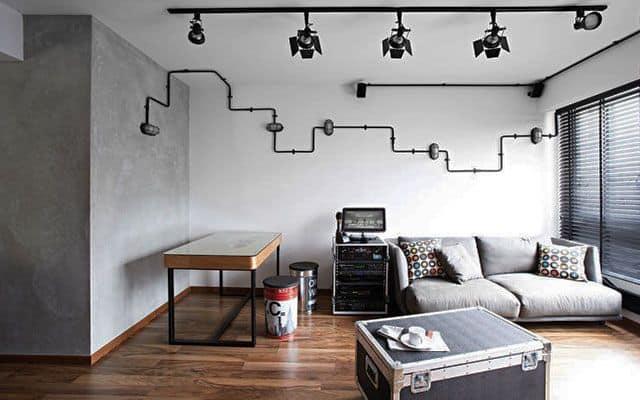 Estilo minimalista em apartamento com decoracao simples