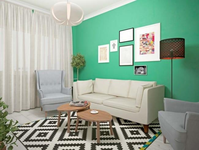 Mix de cores em apartamento decorado de forma simples