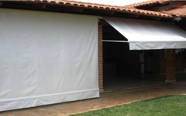 Modelo de toldo cortina de lona branca