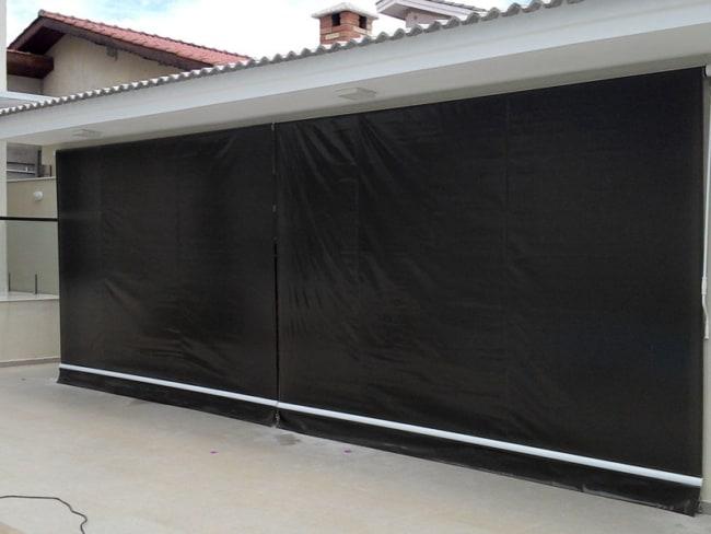Modelo de toldo cortina para garagem