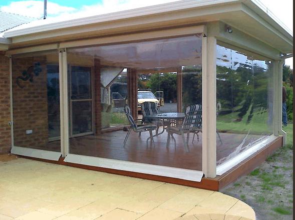 Modelo de toldo cortina transparente