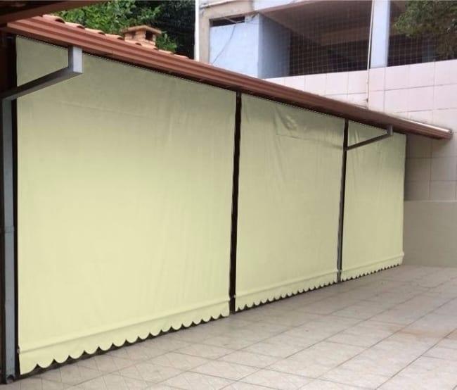 Toldo cortina de lona oferecem boa resistencia e durabilidade