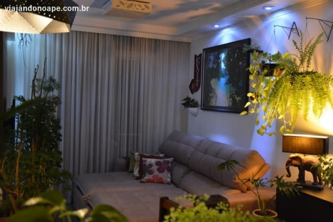 Vaso de parede plantas pendentes iluminacao leve o apartamente decorado com esses atributos fica lindo
