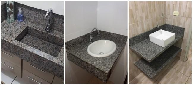 bancada de banheiro em granito ocre itabira