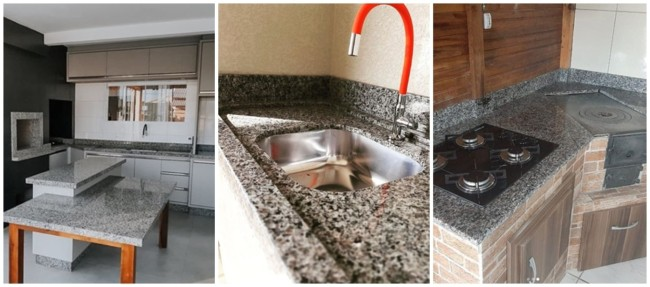 cozinha com granito ocre itabira