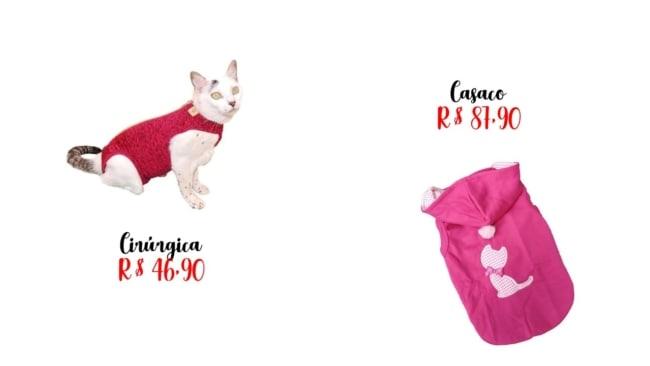 precos de roupas de gato