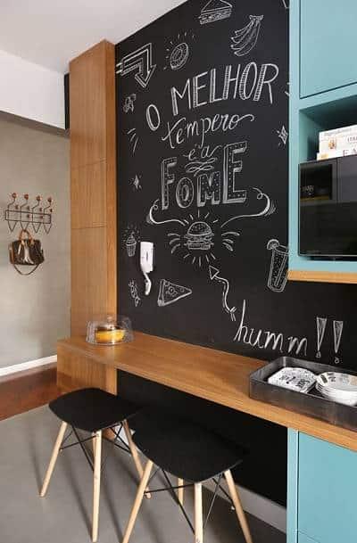 cozinha com parede lousa 09
